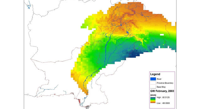 Pakistan Water Managers Used Nasa Grace Satellite Data To Produce This Map