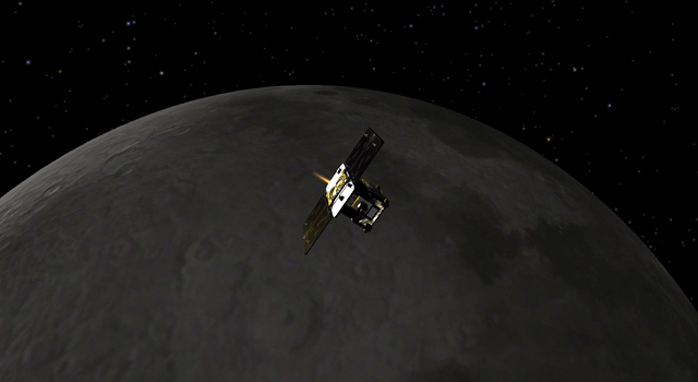 Artist concept of GRAIL mission
