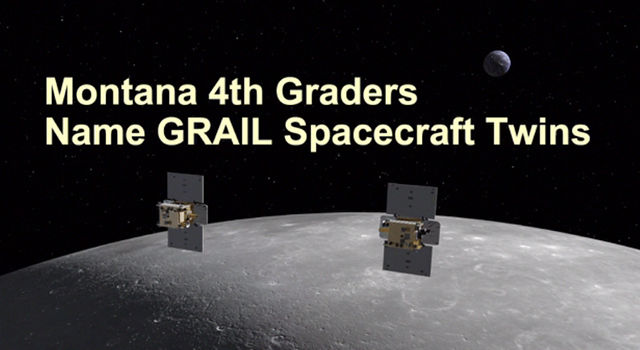Montana Students Spell Out New Names for GRAIL Spacecraft