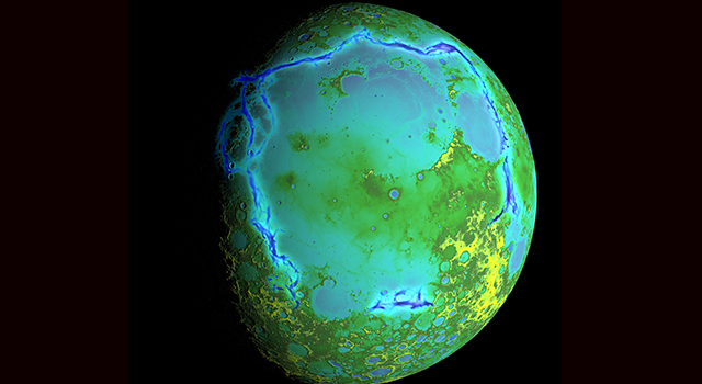Topography of Earth's moon generated from data collected by the Lunar Orbiter Laser Altimeter