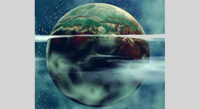 Artist's concept of Earthlike planet.