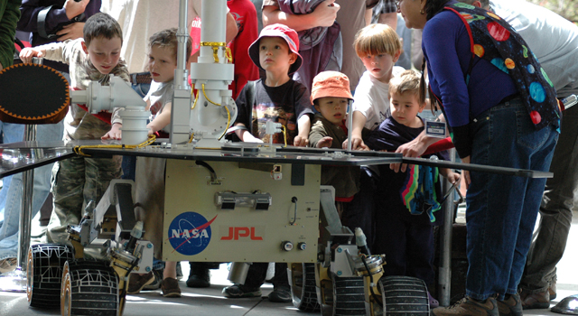 Visitors to Open House at NASA's Jet Propulsion Laboratory