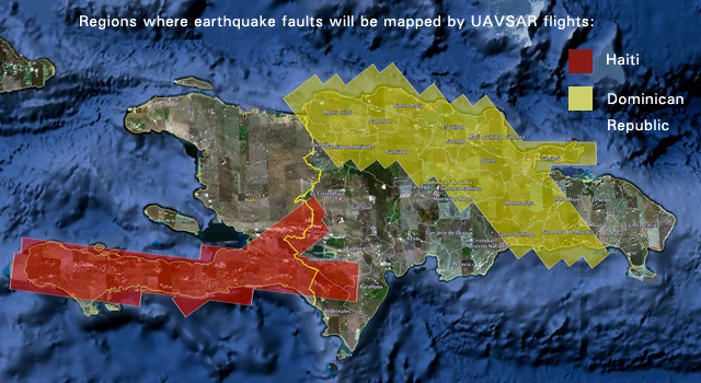 UAVSAR airborne radar will create 3-D maps of earthquake faults over wide swaths of Haiti