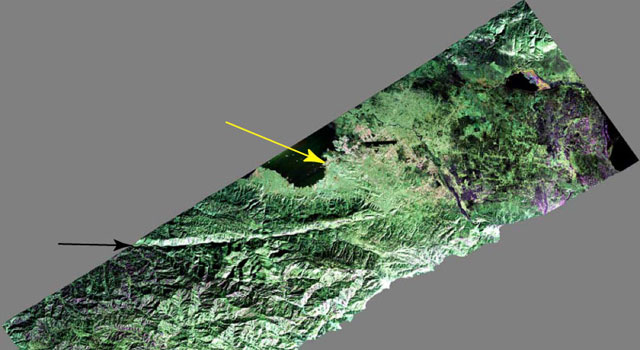 False-color composite image of the Port-au-Prince, Haiti region
