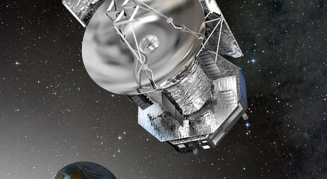 artist's concept of Herschel in space