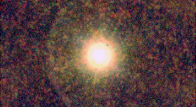 This Herschel image shows IRC+10216, also known as CW Leonis -- a star rich in carbon where astronomers were surprised to find water.