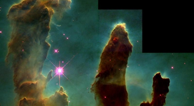 Hubble image of Eagle Nebula