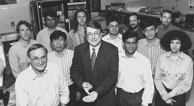 Eric Fossum (front row, center) and his team at JPL