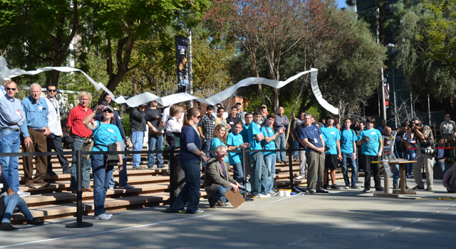 Students compete in the 2012 Invention Challenge at JPL.