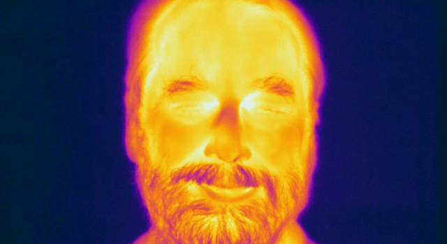 This image, taken with an infrared camera on Earth, shows the WISE principal investigator, Edward Wright, or Ned, from UCLA.