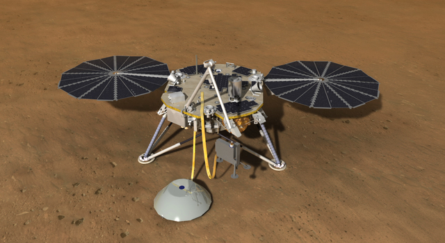 Artist's concept of the InSight lander spacecraft