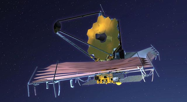 artist's concept of James Webb Space Telescope