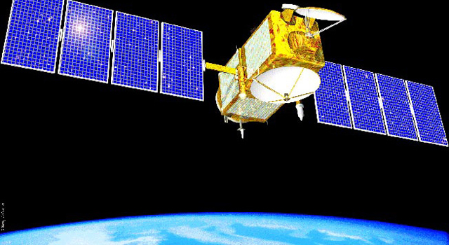 Artist's concept of the joint NASA/CNES Jason-1 ocean altimetry satellite
