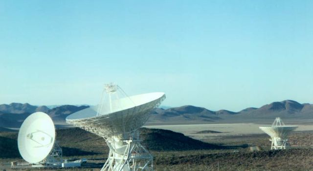 34-meter dishes, Goldstone, Calif.