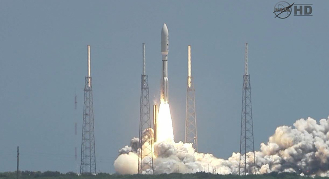 NASA's Juno mission lifts off from Cape Canaveral Air Force Station in Florida.