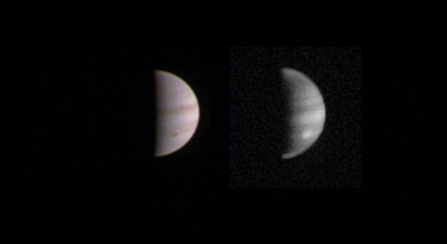 This dual view of Jupiter was taken on August 23.