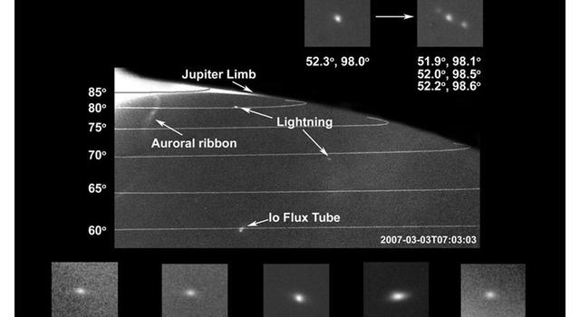 lightning at Jupiter