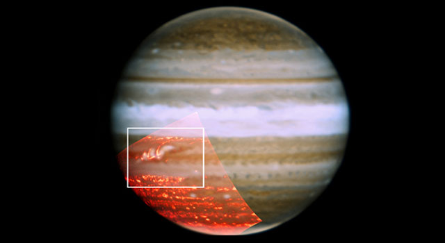 Image showing a belt reappearing in Jupiter's atmosphere