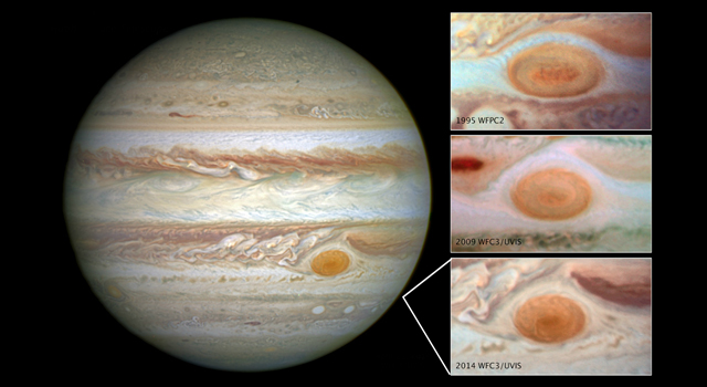 Jupiter's trademark Great Red Spot