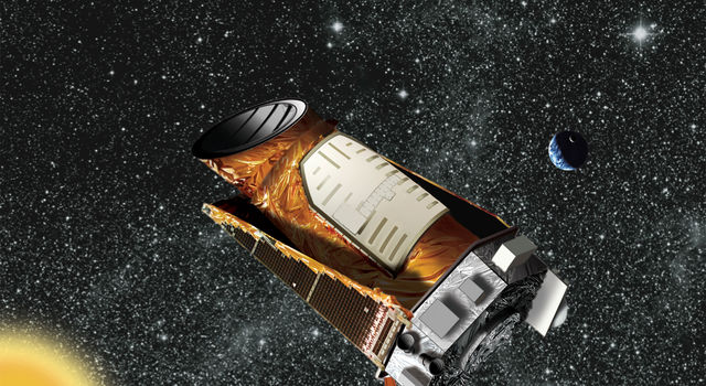Artist's concept of NASA's Kepler space telescope. Image credit: NASA/JPL-Caltech