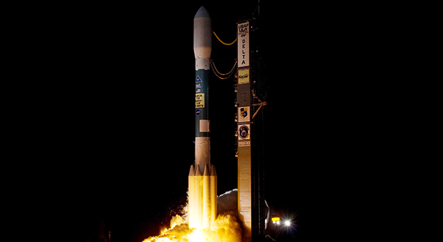 Liftoff of the Delta II rocket carrying the Kepler spacecraft.