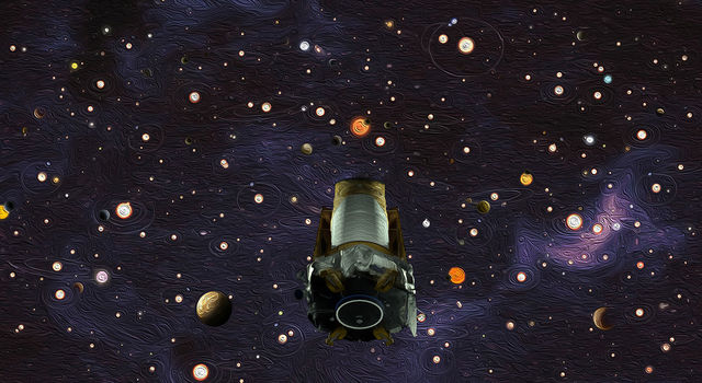 NASA's Kepler space telescope, shown in this artist's concept