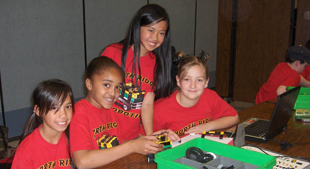 students compete in past robotic competitions
