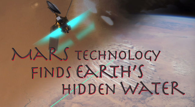 Mars Technology Finds Earth's Hidden Water