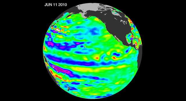 latest data from the NASA/European Ocean Surface Topography Mission/Jason-2 satellite