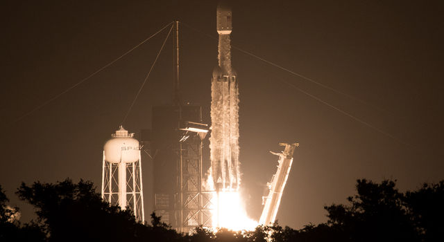 New technology from NASA's Jet Propulsion Laboratory will launch on the first night flight of the SpaceX Falcon Heavy