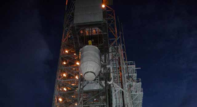 Dawn spacecraft on launch pad