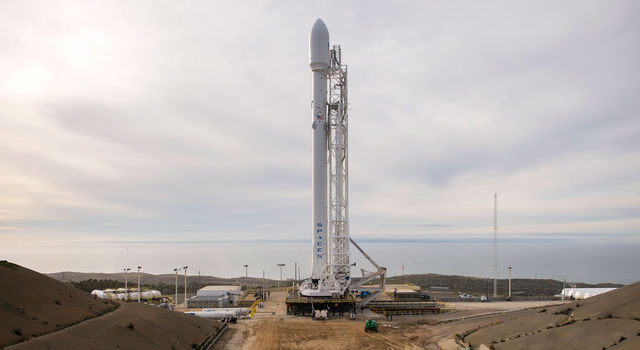 A SpaceX Falcon 9 rocket carrying the U.S.-European Jason-3 satellite