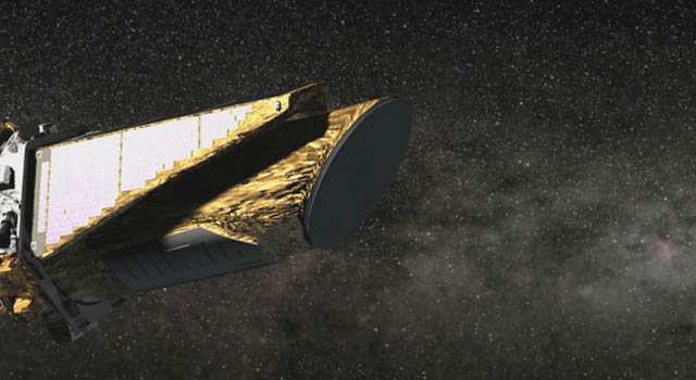 artist concept of Kepler dust cover coming off