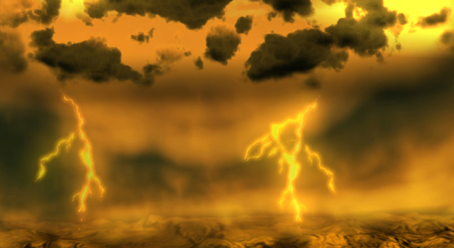 Artist concept of lightning on Venus. Image credit: ESA