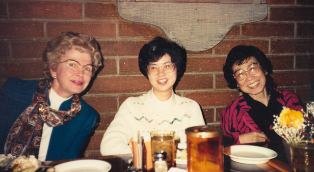 Barbara Paulson, Vickie Wang and Helen Ling