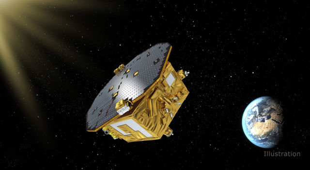The LISA Pathfinder spacecraft Illustration
