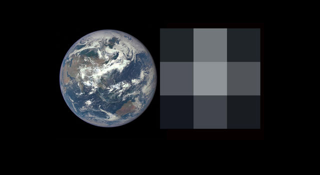 Image of Earth and future exoplanet observation