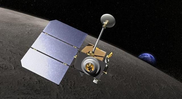 artist concept of Lunar Reconnaissance Orbiter