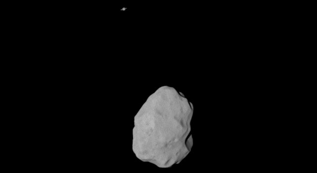 Asteroid Lutetia and Saturn