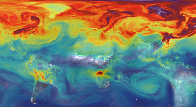 advancing new tools like the supercomputer model that created this simulation of carbon dioxide