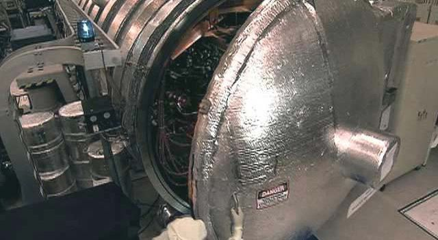 an enormous vacuum chamber