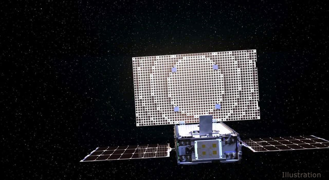 An artist's concept of one of NASA's MarCO CubeSats