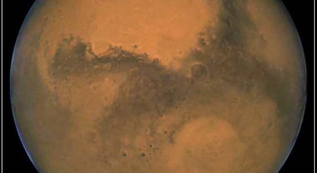 Mars, imaged by NASA's Hubble Space Telescope in August 2003.