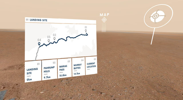 Access Mars lets users visit several sites from the past five years of discoveries made by NASA's Curiosity rover.