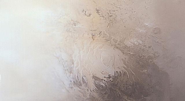 Springtime at Mars' southern polar cap