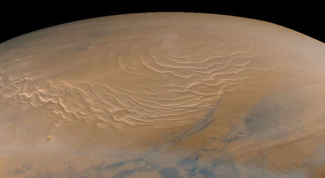 Mars north polar cap