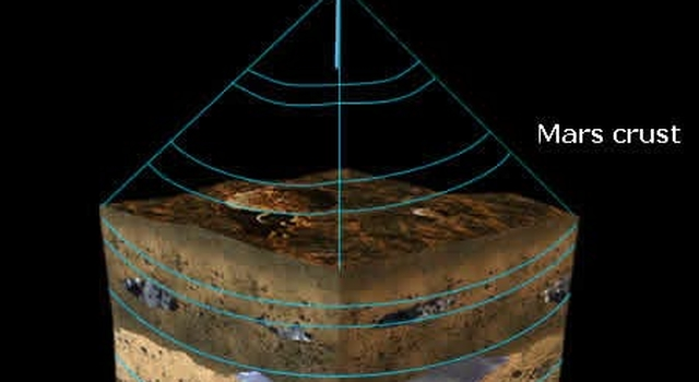 Artist's concept of Mars Advanced Radar for Subsurface and Ionosphere Sounding instrument