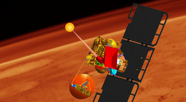 Artist's concept of Mars Volcanic Emission and Life Scout