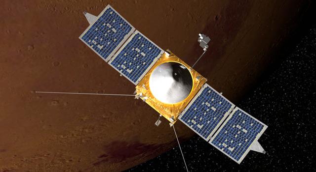 Artist's concept of MAVEN Mars orbiter