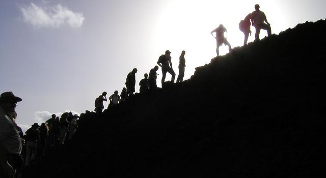 Researchers at Mt. Etna